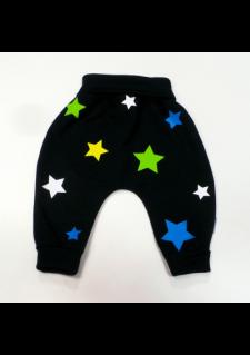 Črne aladinke z modro/zelenimi zvezdicami