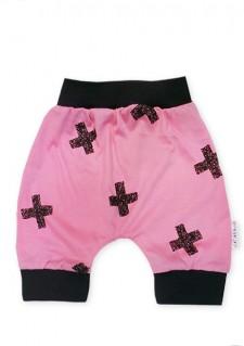 Aladinke pod koleni, motiv s križci, roza