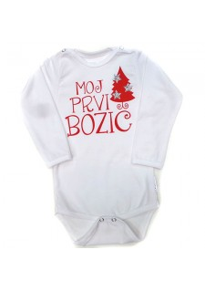 Bodi-moj prvi božič-BEL S SMREKICO