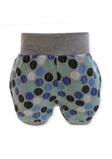 Kratke hlače, modri krogci, sive, 12