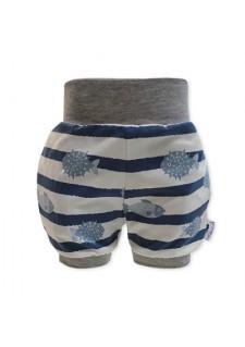 Kratke hlače, modre, morske ribice, 07