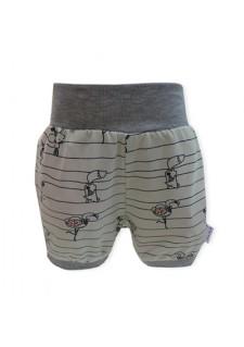 Kratke hlače, bež, miske, flamingo, lisicke, 08