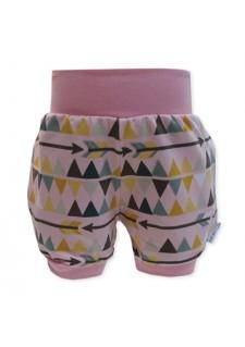 Kratke hlače, trikotniki, puščice, roza, 11