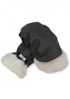 *LiLu* rokavice, temno siva/bela