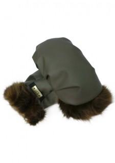 *LiLu* rokavice, vojaška zelena/rjava