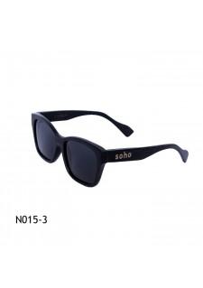 črna lesena očala