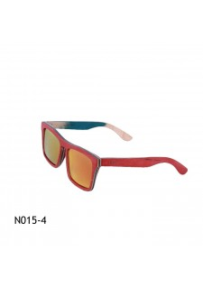rdeča lesena očala