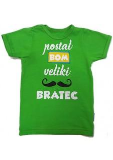 Majica s sporočilom postal bom bratec ali sestrica