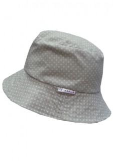 Poletni klobuček - siv s pikicami