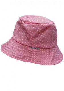 Poletni klobuček - svetlo roza s pikicami