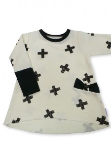 Tunika, bela s križci