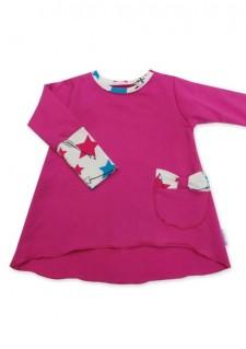 Tunika, pink z zvezdicami